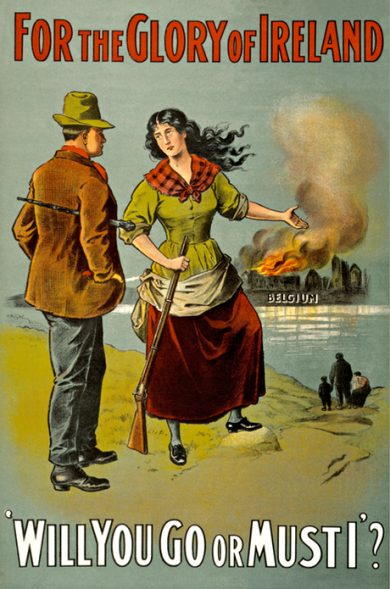 A recruitment poster in Ireland during the first world war