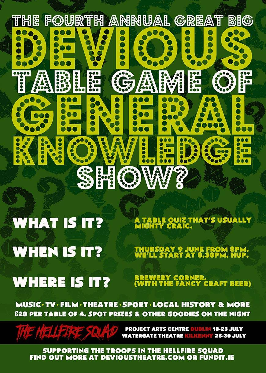 4th Annual Great Big Devious Table Game of General Knowledge Show?