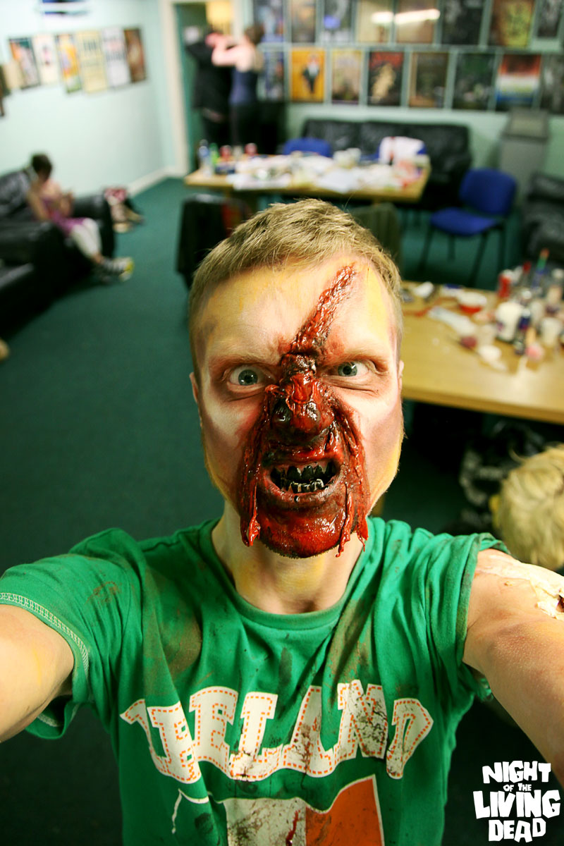 The photographer himself, in all his zombie glory.