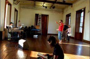 Rehearsing in The Barn